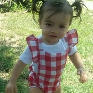 Matching Sets - Plaid baby outfit with hair bow